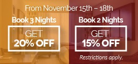 Book for 3 nights